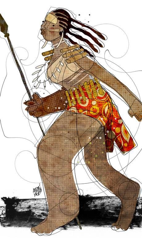 Afro Brazilian woman warrior