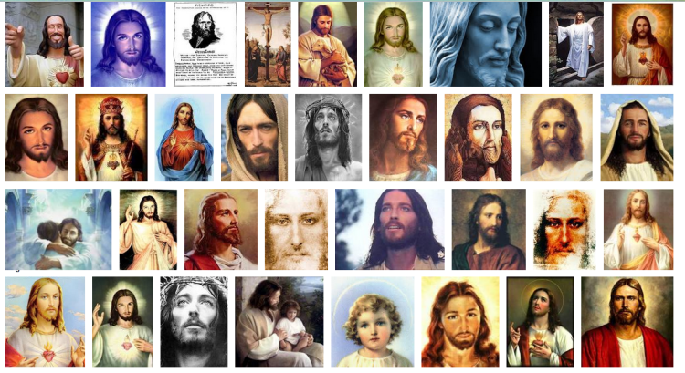 RBF faces of Jesus